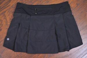 Lululemon Pace Rival Skirt Black Women's 4