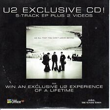 EXCLUSIVE U2 CD WITH TWO VIDEOS -   THE SUNDAY TIMES & MICROSOFT OFFICE (2000)