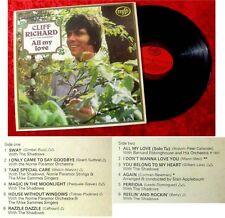 LP Cliff Richard All my Love