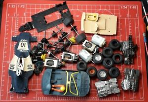 Scalextric Joblot, Spares, Scrapyard, All Motors Work#E4