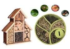 Fix On Wooden Round Bark Insect Nest Garden Home Shelter Bee Bugs Ladybird Box