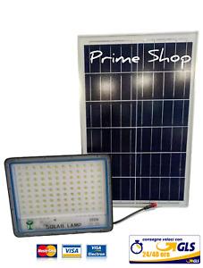 Faro faretto led con pannello solare 300w SMD luce fredda ip66.crepuscolare
