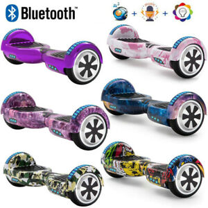 """Electric Scooters 6.5"""" Hoverboard Bluetooth Self-Balancing Scooter LED+Key+Bag"""