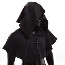 1pc Black Medieval Hooded Wicca Pagan Cowl Hood Halloween Fancy Cosplay  Costume