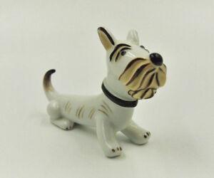 Hund Scottish Terrier Groteske Porzellanfigur Metzler & Ortloff Walter Bosse