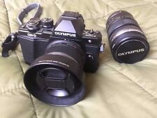 Olympus OM-D E-M10 Mark II 17.2MP Digital Camera - Black w/ 25mm f1.8 & 12-50mm