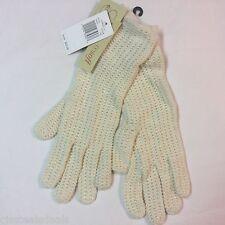 Echo Design Ivory Cream Sparkle Fiber Womens Warm Winter Gloves One Size Fits