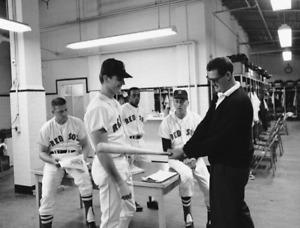 """Ted Williams & Tony Conigliaro- 8"""" x 10"""" Photo- 1966 Boston Red Sox- Fenway Park"""
