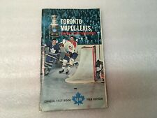 1967-68 Toronto Maple Leafs Fact Book Media Guide