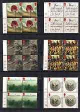 2016 GB QEII ROYAL MAIL THE GREAT WAR COMMEMORATIVE CYLINDER C1 STAMP BLOCKS MNH