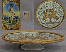 Plateau Tazza Coupe sur Piédouche Majolique Italienne XVIIème XVIIIème Siècle