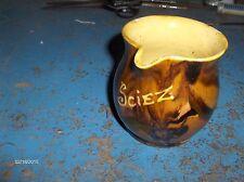 """cruchon , pot a lait en ceramique emaillé de """"SCIEZ""""    occasion"""