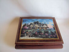 Vintage Jewelry Wooden Musical Box Made In Italy Working
