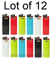 (12 ea.) New  Genuine BIC Big Large Maxi Cigarette Cigar Tobacco Lighter ~ DOZEN
