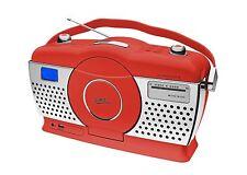 Dual RP 100 Retroradio Design CD USB Rot / Chrom Küchenradio