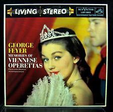 GEORGE FEYER memories of viennese operettas LP Mint- LSP-1862 Living Stereo 1958