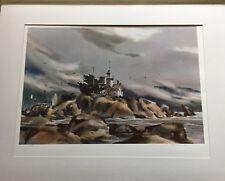 Franklin Mint Watercolor: Harbor Sentinel by Rex Brandt