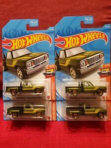 2021 HOT WHEELS TREASURE HUNT 1978 DODGE LI'L RED EXPRESS TRUCK LOT OF 4