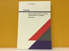 Tektronix 070-9196-00 PS2520, PS2520G, PS2521 + PS2521G User's Manual