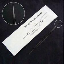 3 x Flexible Big Eye Beading Needles 5 Inches Long (125mm x 0.6mm)  - UK Seller