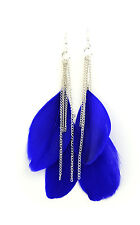 Long swing feather earrings