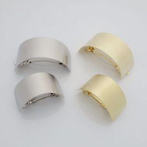 Brass Metal Curve Cuff Ponytail Hair Barrette Clip