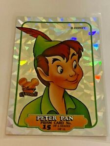 PETER PAN - Disney Classic trading card prism holographic NEVERLAND rare