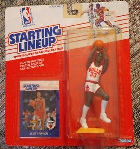 1988 Scottie Pippen Rookie Starting Lineup Kenner figure near mint sharp card