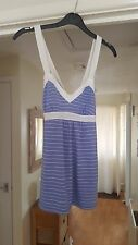 United Colours of Benetton Cute Strappy Top, Lilac & White Striped, Size S (6/8)
