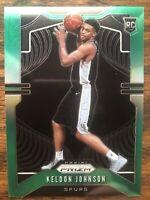 2019-20 Keldon Johnson Panini Green Prizm RC #273 Rookie Spurs SP