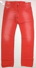 Diesel Krayver Regular Slim Carrot 0818V Bright Red Jeans.Size W29/MSRP $328