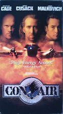 Con-Air (VHS, 1997) Nicolas Cage, John Cusack & John Malkovich [115 min, R] LN.