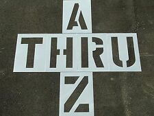 "24"" x 9"" Parking Lot Striping Alphabet Stencils 1/16"" LDPE, Large Edge Distances"