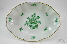 Herend Hungary Fine China Small Oval Dish in Nanking Bouquet Vert 7739/NBV