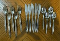 Linmark Stainless LNM1 Flatware Forks Knives Teaspoons MCM Japan Lot of 14