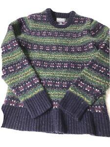 Bonobos Women's Blue Shetland Wool Sweater Slim Fit Medium 💯 new wool