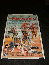 """THE PHANTOM OF THE WEST Original 1931 Movie Poster, 27"""" x 41"""", C8 Very Fine"""