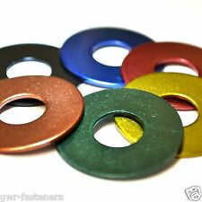 M8 x 25mm GWR Colourfast® Penny Washers - A2 Stainless Steel - Coloured Washer