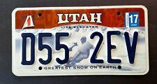 Utah LIFE ELEVATED GREATEST SNOW ON EARTH SKIER 2017 License Plate