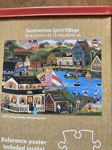 Cardinal  Summertime Spirit Village 500 Piece Jigsaw Puzzle