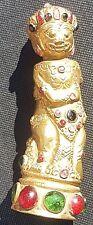 Manche de Kriss KERIS Or sur cuivre, pierres semi precieuses Indonesie - asie