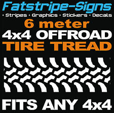 4x4 OFFROAD CAR Tire Tread grafiche Adesivi Decalcomanie Defender Discovery JEEP pneumatico