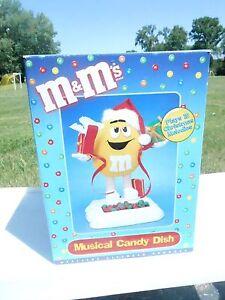 (NRFB) M & M's Musical Candy Dish YELLOW Rare HTF (S10)