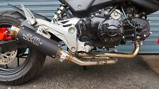 ZoOM Exhaust Honda GROM 125 MSX 125SF 2013-2018 Full System Low Mount Black 2SLZ