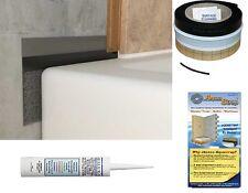 AquaStrap 2.5m Shower Tray or Bath Seal with Sealux-N Tile Flexible Flexi Seal