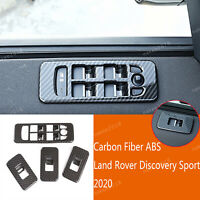Carbon ABS Window Lift Button Panel Trim Fit For Land Rover Discovery Sport 2020