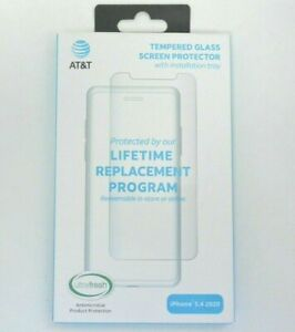 """New AT&T Tempered Glass Antimicrobial Screen Protector for iPhone 12 Mini 5.4"""""""