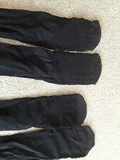 2 pairs black knee high socks