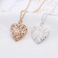 Wholesale 925 Sterling Silver Heart Necklace, Locket Photo Pendant 18""