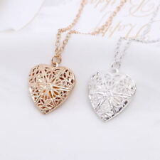 "Wholesale 925 Sterling Silver Locket Heart Love Necklace Photo Picture 18""- 20"""